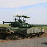 «Козырек» на Т-72Б3 от баражирующего снаряда.