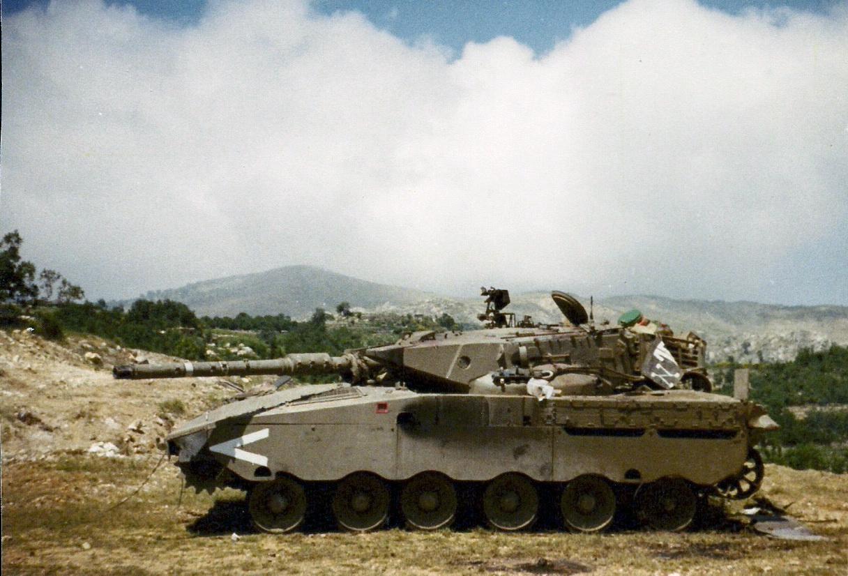 Подбитый Танки Меркава Ливан 1982