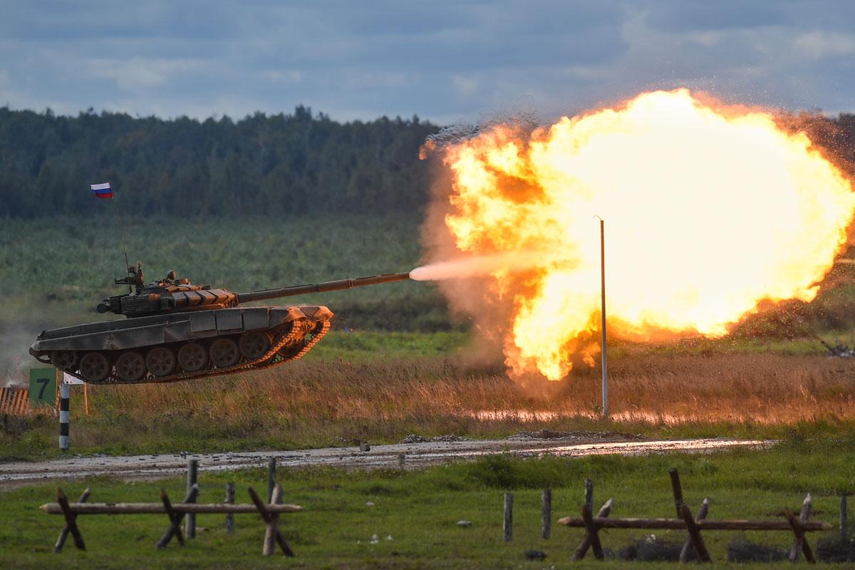 Т-72 танк выстрел с лету